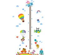 abordables -règle de mesure de la hauteur de l'enfant stickers muraux stickers muraux décoratifs, décoration de la maison pvc sticker mural décoration murale / amovible 50 * 70cm