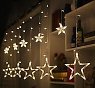 economico -2.5 m led star string luci stardust tenda luci decorazione natalizia fata luce camera da letto albero esterno natale capodanno matrimonio san valentino regalo senza batteria