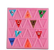 economico -stampo da forno triangolo lettere maiuscole in silicone fai da te stampo per torta fondente alfabeto inglese stampo da forno