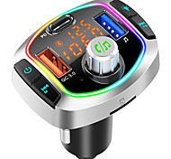 economico -BC63 Bluetooth 5.0 Kit per auto Bluetooth Vivavoce per auto Bluetooth / Auto MP3 modulatore FM / Radio FM Auto