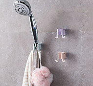 abordables -1 pcs mural gel monté tête de douche support support support à main salle de bain montage portable accessoires