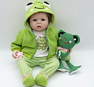 abordables -Vêtements de poupées Reborn Baby Accessoires de poupée Reborn Tissu en Coton pour poupée Reborn de 22 à 24 pouces Poupée Reborn Non Incluse Grenouille Doux Pur fait main Garçon 4 pcs
