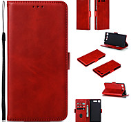 economico -telefono Custodia Per Sony Integrale Custodia in pelle Custodia flip Xperia XZ2 Compact Xperia XZ2 Xperia XZ1 Compact Sony Xperia XZ1 Porta-carte di credito Con chiusura magnetica A calamita Con onde