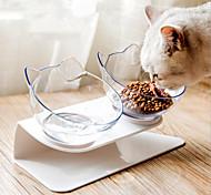 economico -ciotole doppie per cani ciotole rialzate per cibo per gatti ciotole con supporto rialzato mangiatoia per animali domestici inclinata di 15 ° per gatti e cani di piccola taglia
