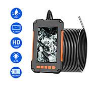 abordables -caméra d'endoscope industriel 1080p hd 4.3ips support d'écran 64g carte tf tuyau d'enregistrement drain égout caméra d'inspection de conduit d'ip67 caméra serpent avec 6 led
