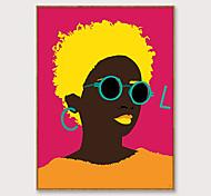 economico -arte pop incorniciata fumetto stampa su tela moda moderna bella africa ragazza ps pittura a olio arte della parete adatta per la decorazione soggiorno pronta da appendere 1 pezzo