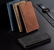 economico -telefono Custodia Per Samsung Galaxy Integrale Custodia in pelle Porta carte di credito A31 A portafoglio Con chiusura magnetica Con onde Tinta unica pelle sintetica