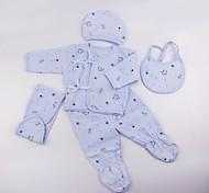 abordables -Vêtements de poupées bébé Reborn Accessoires pour poupées Reborn Tissu en Coton pour poupée Reborn 22-24 pouces Ne pas inclure la poupée Reborn Eléphant Doux Pur fait main Fille 5 pcs