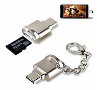 abordables -mini lecteur de carte portable type c micro sd tf lecteur de carte mémoire adaptateur otg usb 3.1 lecteur de carte pour téléphone