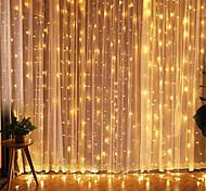 abordables -3x3m LED rideau guirlande lumières cadeau de noël guirlande lumière pour jardin maison fête rideau noël mariage saint valentin décoration avec prise