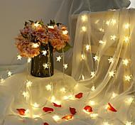 abordables -6m 40led étoiles guirlandes lumineuses scintillent guirlandes alimentées par batterie LED guirlandes pour noël mariage vacances fête lampe décorative sans batterie