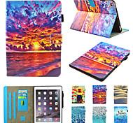 abordables -téléphone Coque Pour Apple Coque Intégrale iPad Air iPad (2018) iPad Air 2 iPad (2017) iPad Pro 9,7 pouces Rotation à 360 ° Antichoc Magnétique Papillon Paysage Panda faux cuir TPU