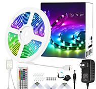 abordables -ZDM 25ft 7.5m Non étanche 5050 RVB LED en couleur avec bande de 44 touches IR Remote Kit de bande d'éclairage DC12V