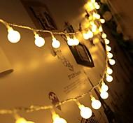 abordables -6m LED Guirlande Lumineuse 40 LED Mini Boules De Noël Décoration De Mariage Fée Lumière Fête De Vacances Fête Extérieure Cour Décoration Lampe USB Alimenté Cadeau De Noël