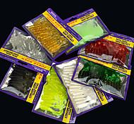 abordables -20 pcs Kit de leurre leurres souples Leurre souple Kits de leurre Vers Bass Truite Brochet Pêche en mer Pêche d'eau douce Pêche de la perche