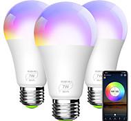economico -lampadina intelligente a19 e26 rgbcw wifi dimmerabile luci led multicolori compatibili con alexa google home e ifttt (nessun hub richiesto) 7w (equivalente 60w)