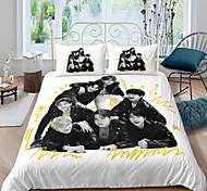abordables -BTS textiles de maison 3d ensemble de literie housse de couette avec taie d'oreiller chambre housse de couette ensembles literie bts