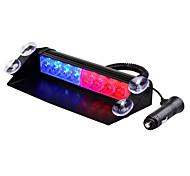 abordables -1 set 8 LED d'urgence stroboscopique 3 mode flash 12 v voiture camion tableau de bord avertissement clignotant lumières bar véhicule signal de sécurité lampe 12 v