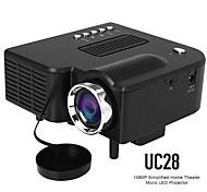 abordables -uc28 led mini projecteur 320x240 pixels prend en charge 1080p hdmi usb audio projecteur portable multimédia à domicile lecteur vidéo beamer uc28 vs yg300