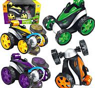 abordables -Jouets de camion de construction Voiture télécommandée Tombereau Rotation 360° Contrôle de flash sans fil Simulation Plastique Mini jouets de véhicules de voiture pour cadeau de fête ou cadeau
