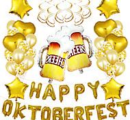 economico -Palloncini per feste 31+10 pcs Oktoberfest Articoli per feste Palloncini in lattice Ragazzi e ragazze Feste Decorativo 16inch per forniture per bomboniere o decorazioni per la casa