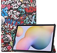 economico -telefono Custodia Per Samsung Galaxy Integrale Tab S6 Lite (SM-P610 / 615) Con chiusura magnetica Torre Eiffel TPU PC