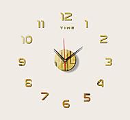 abordables -3D DIY Horloge Murale Décor Autocollant Miroir Sans Cadre Grand DIY Horloge Murale Kit Pour La Maison Salon Chambre Bureau Décoration
