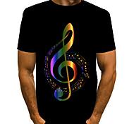 economico -Per uomo maglietta Pop art Con stampe Manica corta Quotidiano Top Essenziale Esagerato Rosso Oro Arcobaleno