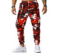 abordables -Homme Pantalon cargo Pantalon Camouflage Toute la longueur Bleu Rouge Orange Vert Gris Clair