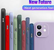 economico -telefono Custodia Per Apple Per retro Silicone Custodia in silicone iPhone 11 iPhone 11 Pro iPhone 11 Pro Max Resistente agli urti Tinta unita Silicone