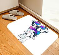 abordables -couleur cravate lunettes de soleil chien fleurs chaton fille moderne tapis de bain non-tissé / mousse à mémoire nouveauté salle de bain
