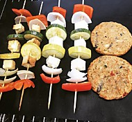 economico -4 pz antiaderente bbq grill mat 40 * 33 cm teglia da forno teflon cottura griglia da forno resistenza al calore facilmente pulibile cucina per la festa