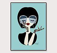 economico -incorniciato arte pop cartone animato stampa su tela moda moderna piccolo stile fresco bella ragazza ps pittura a olio arte della parete adatto per la decorazione soggiorno pronto da appendere 1 pezzo