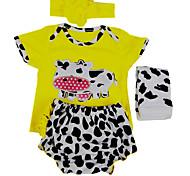 abordables -Vêtements de poupées Reborn Baby Accessoires de poupée Reborn Tissu en Coton pour poupée Reborn de 22 à 24 pouces Poupée Reborn Non Incluse Vache Doux Pur fait main Garçon 4 pcs