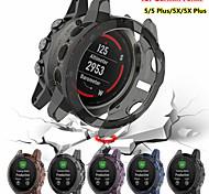 economico -Custodie Per Garmin Fenix 5x / Fenix 5 / Fenix 5 Plus TPU Proteggi Schermo Custodia per Smartwatch  Compatibilità