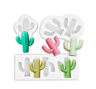 abordables -lot de 3 3d cactus silicone moule glaçon moule chocolat gâteau décoration fondant moule manuel bricolage