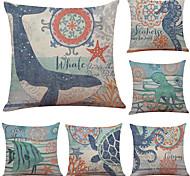 abordables -1 lot de 6 pièces housses de coussin en lin imprimé animal taie d'oreiller décorative housse de coussin pour chambre chambre canapé chaise voiture, imprimé panda, 18 x 18 pouces