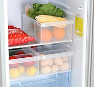 abordables -boîte de rangement en plastique 1 pc avec 3 grilles pour le stockage des aliments dans la cuisine et le réfrigérateur