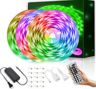 economico -strisce luminose a led impermeabili 15m 900leds 2835 rgb strisce luminose cambia colore corda luci nastro flessibile kit luce con telecomando 44 tasti& Alimentazione 12v 5a