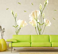 economico -adesivi murali floreali / botanici adesivi murali aerei adesivi murali decorativi decorazione della casa in pvc decalcomania della parete decorazione della parete / finestra 1pc 70 * 50cm