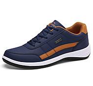 economico -Per uomo Scarpe da ginnastica Scarpe comfort Quotidiano All'aperto Footing PU Nero / Rosso Bianco Blu scuro Autunno