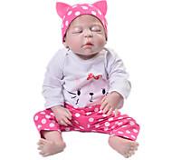 abordables -Vêtements de poupées Reborn Baby Accessoires de poupée Reborn Tissu en Coton pour poupée Reborn de 22 à 24 pouces Poupée Reborn Non Incluse Chat Doux Pur fait main Fille 3 pcs