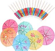 economico -L'ombrello decorativo di agitazione del miscelatore di cocktail da 4 pollici raccoglie il pacchetto 144 per la festa