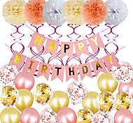 abordables -Ballons de fête 20+9 pcs Ruban rose Articles de fête Ballons en latex Bannière Garçons et filles Soirée Anniversaire Décoration 8-12inch pour les fournitures de fête ou la décoration de la maison