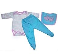 abordables -Vêtements de poupées Reborn Baby Accessoires de poupée Reborn Tissu en Coton pour poupée Reborn de 22 à 24 pouces Poupée Reborn Non Incluse Cœur Doux Pur fait main Fille 3 pcs