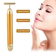 abordables -imperméable à l'eau d'or massage du visage minceur électrique beauté bâton massage facial rouleau vibrateur livraison directe