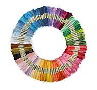 economico -50 pezzi di ricamo a colori casuali fai da te fili di filo di seta filati simili filo dmc filo interdentale matassa filo punto croce
