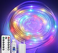 abordables -10m 100 LED boîtier étanche guirlandes lumineuses 1 télécommande à 13 touches configurable US EU UK Plug RGBWarm étanche extérieure USB 5 V Party Night Light 1 Set