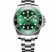 abordables -pagani design japon mouvement automatique mécanique étanche montres pour hommes-montres classiques en acier inoxydable de mode (vert)