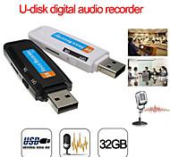 economico -u-disk registratore vocale audio digitale penna USB flash drivefino a 32 gb micro sd tf